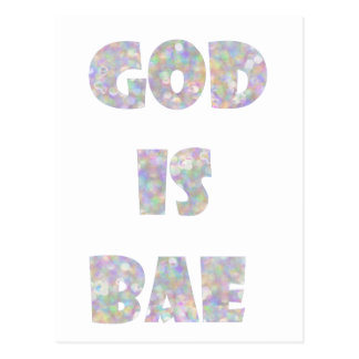 Gott ist bae postkarte