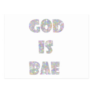 Gott ist bae postkarten