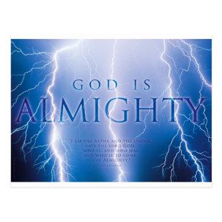 GOTT IST - christlich, Glaube, Religion ALLMÄCHTIG Postkarte