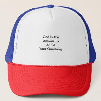 Gott ist die Antwort zu allen Ihre Fragen Truckerkappe
