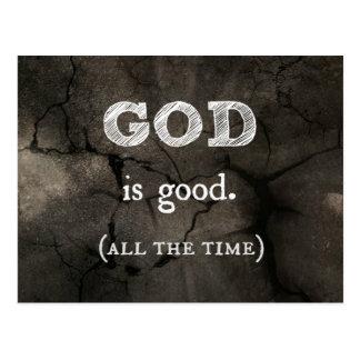 Gott ist die gute… ständig christliche Gewohnheit Postkarte