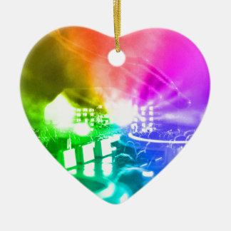 Gott ist ein DJ Keramik Herz-Ornament