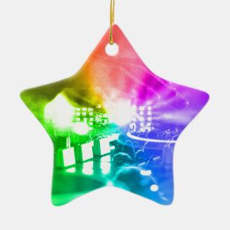Gott ist ein DJ Keramik Stern-Ornament