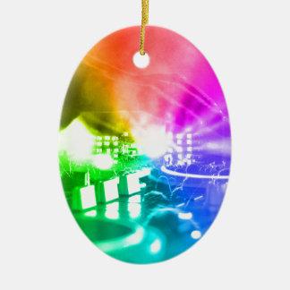 Gott ist ein DJ Ovales Keramik Ornament