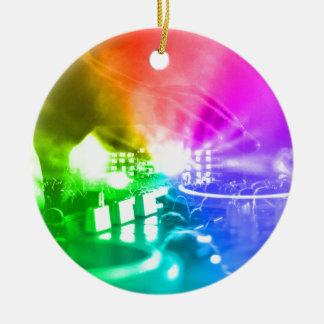 Gott ist ein DJ Rundes Keramik Ornament