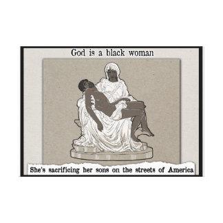 Gott ist eine schwarze Frau Leinwanddruck
