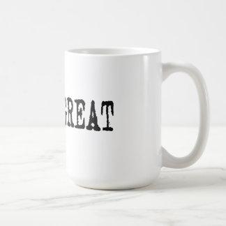 Gott ist groß kaffeetasse