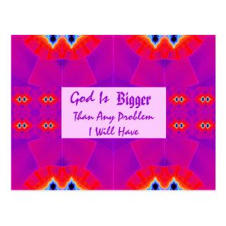 Gott ist größer als jedes mögliches Problem, das Postkarte