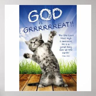GOTT IST GRRRRREAT! - Christliche Plakate für
