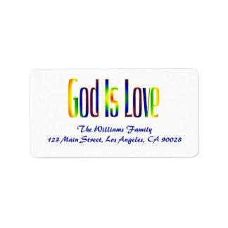 Gott ist Liebe Adressaufkleber