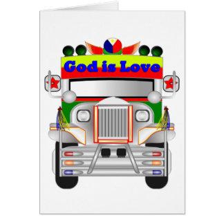 Gott ist Liebe-Auto Karte
