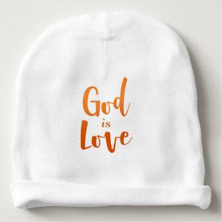Gott ist Liebe-- geistiges und religiöses Baby Babymütze