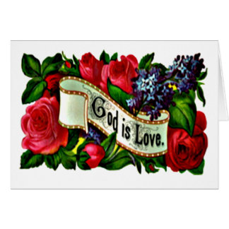 Gott ist Liebe-Grußkarte Karte