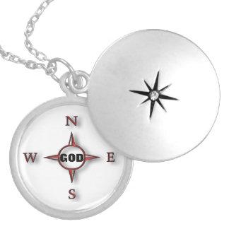 Gott ist mein Kompass Personalisierte Halskette