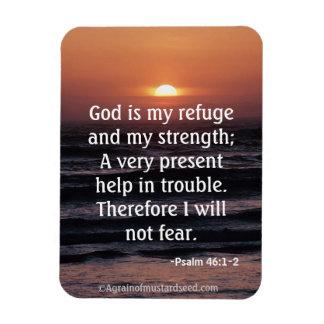 Gott ist mein Schutz und mein Stärke Bibel-Zitat Magnet