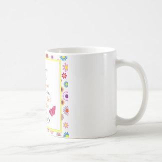 Gott ist mit Thee: Blumenschmetterlings-Entwurf Kaffeetasse