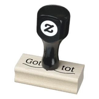 Gott isttot-Gummi-Briefmarke Gummistempel