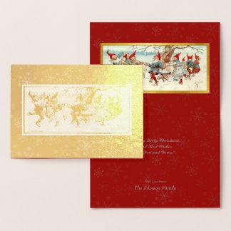 Gott Jul - schwedische Postkarten-Weihnachtskunst Folienkarte