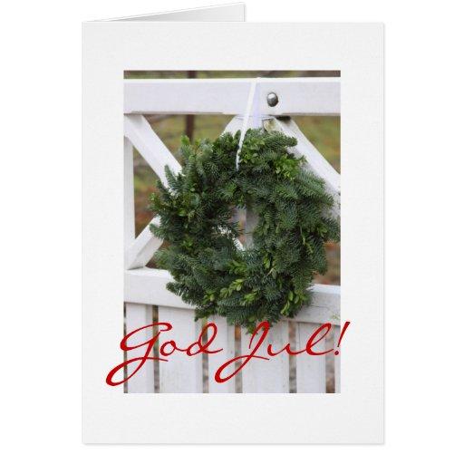 Gott Jul! Schwedische WeihnachtsKranz-Karte