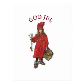 Gott-Jul-Weihnachtsgruß Carl Larssons Brita Postkarte