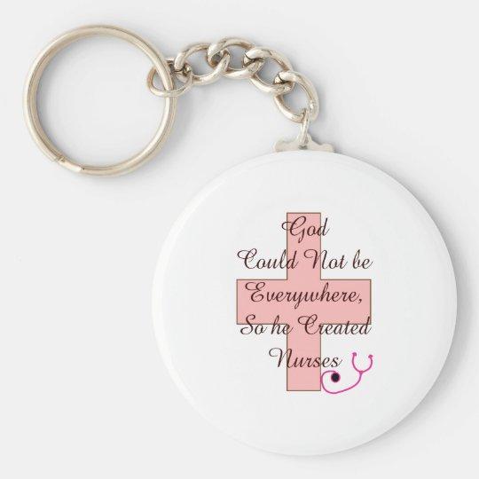 Gott könnte nicht PFLEGT überall rosa Kreuz Schlüsselanhänger