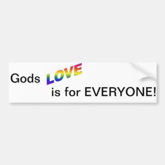 Gott-Liebe ist für jeder Autoaufkleber