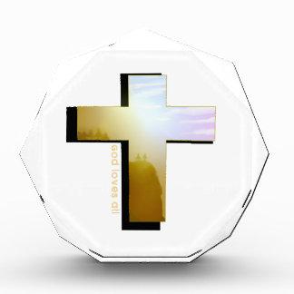 Gott-Lieben alles Kreuz Acryl Auszeichnung