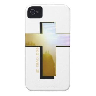 Gott-Lieben alles Kreuz iPhone 4 Cover