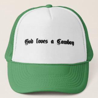Gott-Lieben ein Cowboy Truckerkappe
