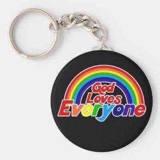 Gott-Lieben jeder homosexueller Regenbogen Schlüsselband