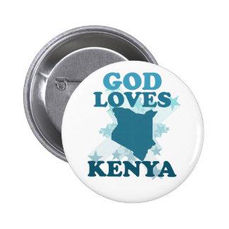 Gott-Lieben Kenia Anstecknadelbuttons