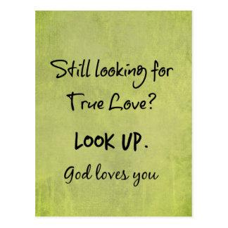 Gott-Lieben Sie christliches Zitat Postkarte