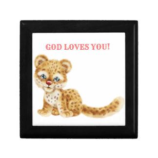 Gott-Lieben Sie entzückender Dschungelwildes Geschenkbox