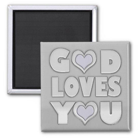 Gott-Lieben Sie Inspirational Quadratischer Magnet