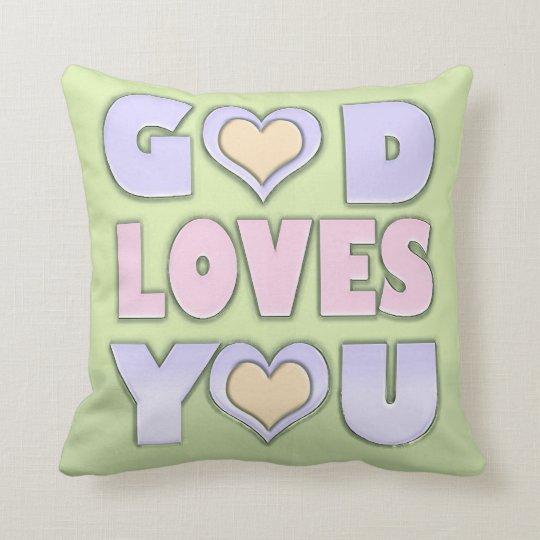 Gott-Lieben Sie Kissen