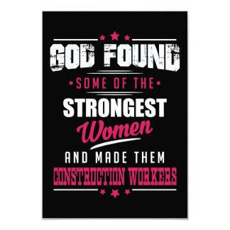 Gott machte Bau-Arbeitskräfte unglaublich witzig 8,9 X 12,7 Cm Einladungskarte