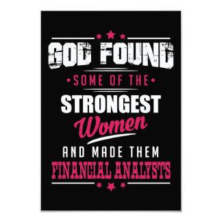 Gott machte Finanzanalytiker unglaublich witzig 8,9 X 12,7 Cm Einladungskarte