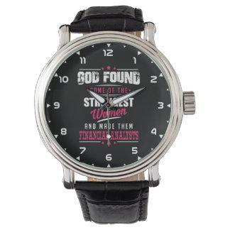 Gott machte Finanzanalytiker unglaublich witzig Armbanduhr
