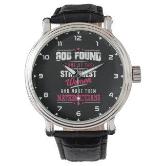 Gott machte Mathematiker unglaublich witzig Beruf Armbanduhr