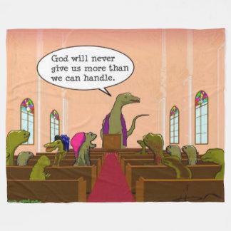 Gott nie Giives mehr als können wir Dinosaurier Fleecedecke