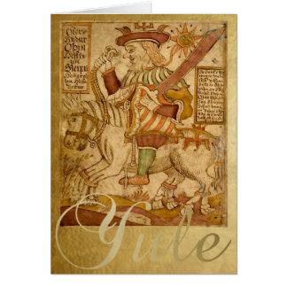Gott Odin auf seinem Pferd Sleipnir - Karte