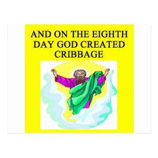 Gott schuf cribbage postkarte