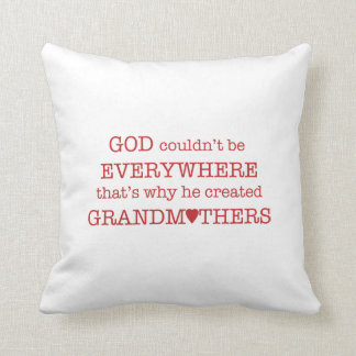 Gott schuf Großmutter-Rotes Kissen