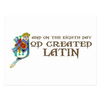 Gott schuf Latein Postkarte