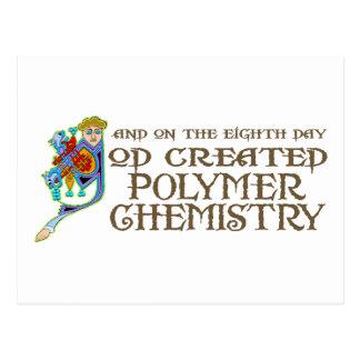 Gott schuf Polymer-Chemie Postkarte