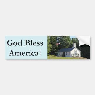 Gott segnen Amerika!  Autoaufkleber