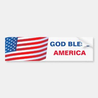 Gott segnen Amerika-Autoaufkleber Autoaufkleber