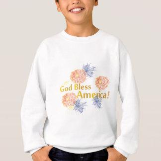 Gott segnen Amerika-Feuerwerke Sweatshirt