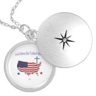 Gott segnen Amerika-Geschenke Medaillon