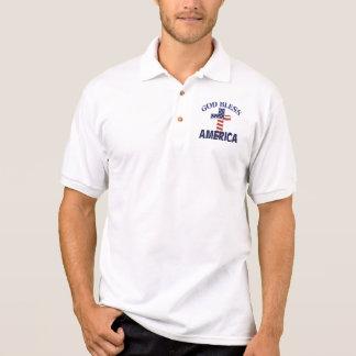 Gott segnen Amerika-Kreuz Polo Shirt